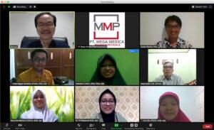 Meeting Zoom antara PT MMP dengan USU